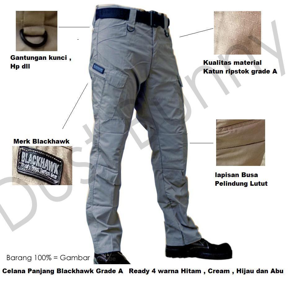 ... Bandingkan Toko Blackhawk Celana Tactical Blackhawk Panjang PDL Kargo Long Pants Multicolour harga