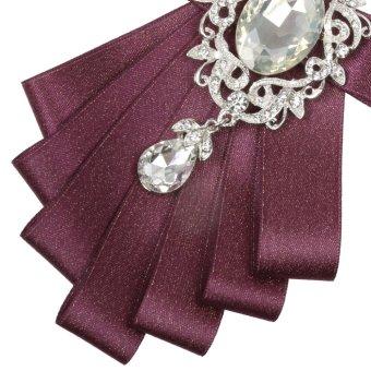 BolehDeals pria mempelai dasi kupu-kupu pesta pernikahan tari pitaDiamand dasi ungu - Internasional - 5