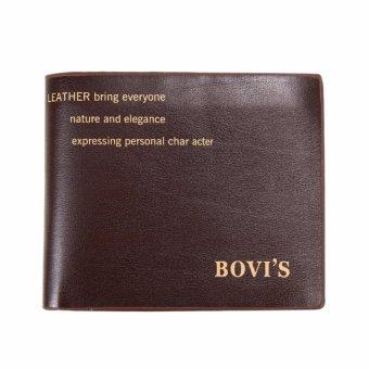 Bovis Dompet Pria Kulit Classic Simpel Formal Kulit Leather GenuineCasual Fashion Design Wallet - Coklat ...