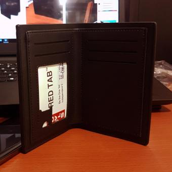 Bovis PU Leather Wallet Dompet Pria 6 Inchi 1382-4 Bifold OriginalImport - Black - 3