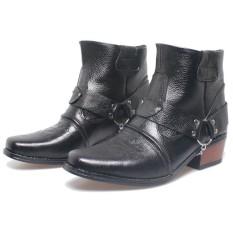 Bsm Soga Bnn 286 Sepatu Boots Pria - Bahan Kulit - Gagah Dan Keren(Hitam)