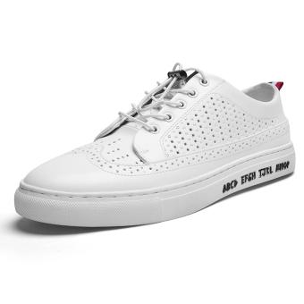 Bullock bernapas jala putih sepatu pria sepatu sepatu sepatu pria (811 pukulan bernapas model)