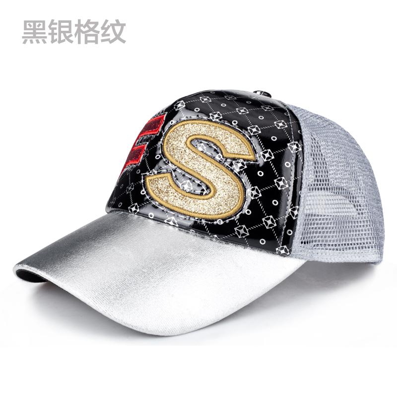 Busana musim semi dan musim panas matahari topi perempuan topi topi (FS hitam dan perak