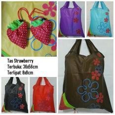 Buy 1 Get 1 Tas Belanja Strawberry Foldable Shopping Bag