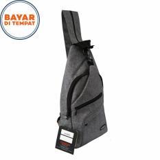 Carboni Waistbag Ransel Tali Satu AA00022-10 Dobel Fungsi - Grey
