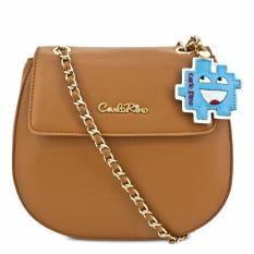 Carlo Rino 0303393-001-35 Brown Sling Bag (Brown)