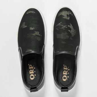 bcd65edaaf8e Beli Carrefour sepatu Korea Fashion Style pria musim gugur baru sepatu SLIP  ON pedal (Hitam tidak peninggi) Terpercaya