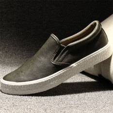 Carrefour sepatu kulit pedal sepatu pasang sepatu musim gugur sepatu kulit (Hijau tentara)