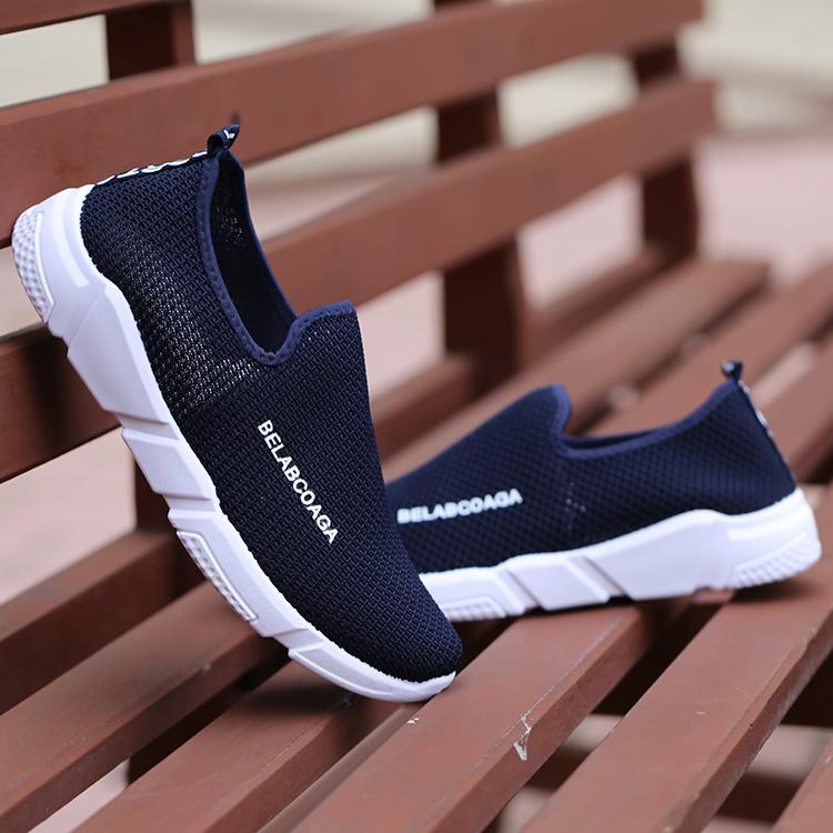 Carrefour sepatu versi Korea dari sepatu pasang sepatu sepatu pria (F-8 biru)