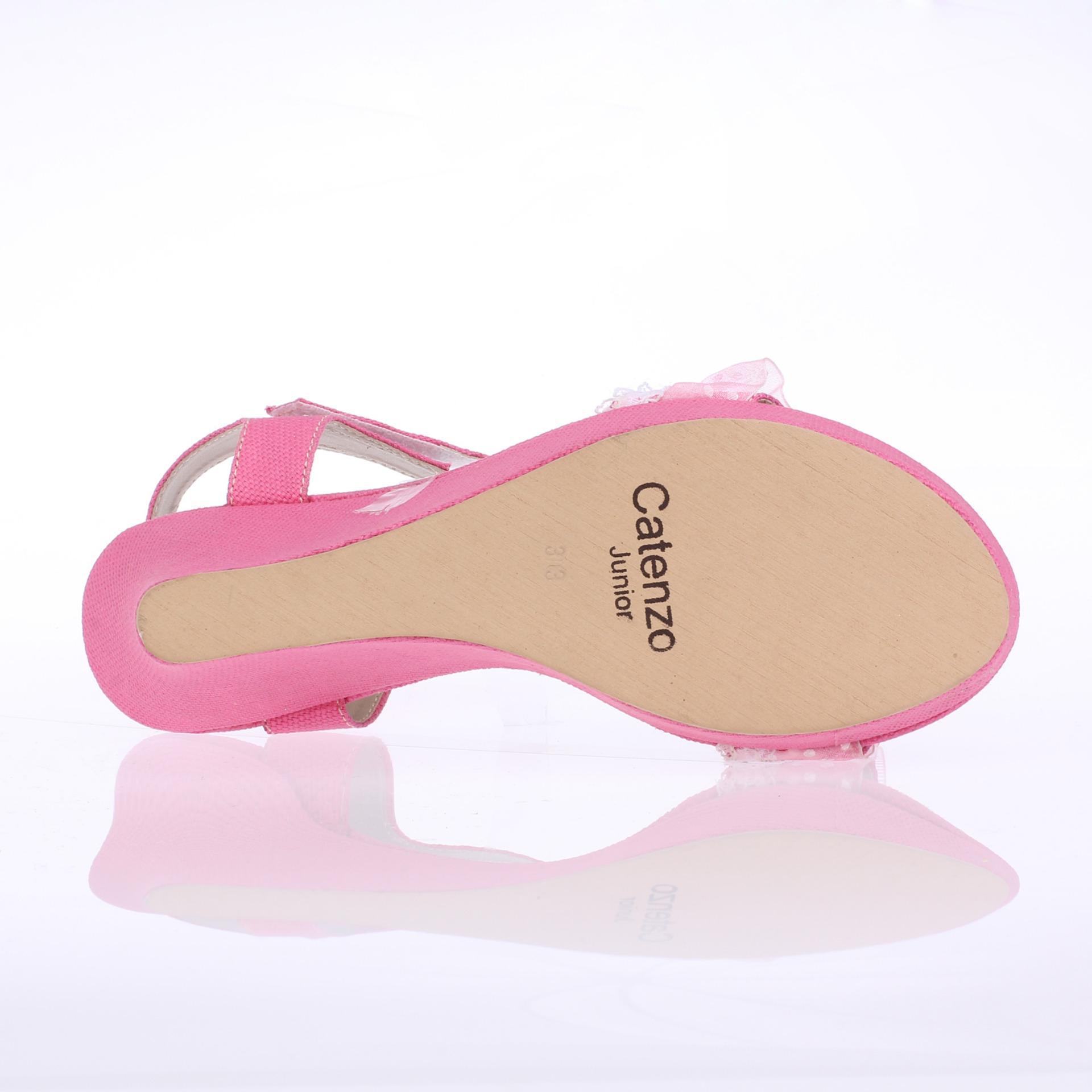 Catenzo Junior Sandal Sendal Wedges Anak Perempuan CNR006 - Pink