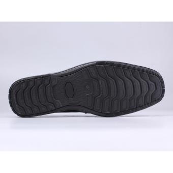 Catenzo Sandal Pantofel Kulit Pria - Sepatu Sandal YA 042 - Hitam -