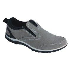 Catenzo Sepatu Suede Semi Formal Pria - Best Seller - Grey