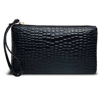 CatWalk Women Tote Satchel Hobo Leather Handbag Tote Wallet Bag(Black) - intl
