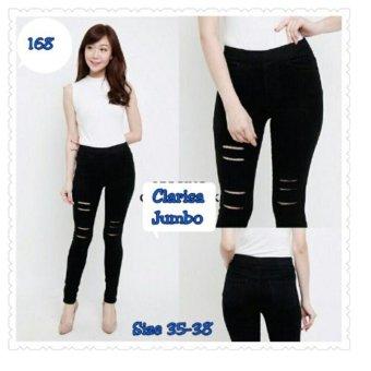 Celana Clarissa Legging Jeans Silet Pant-Hitam