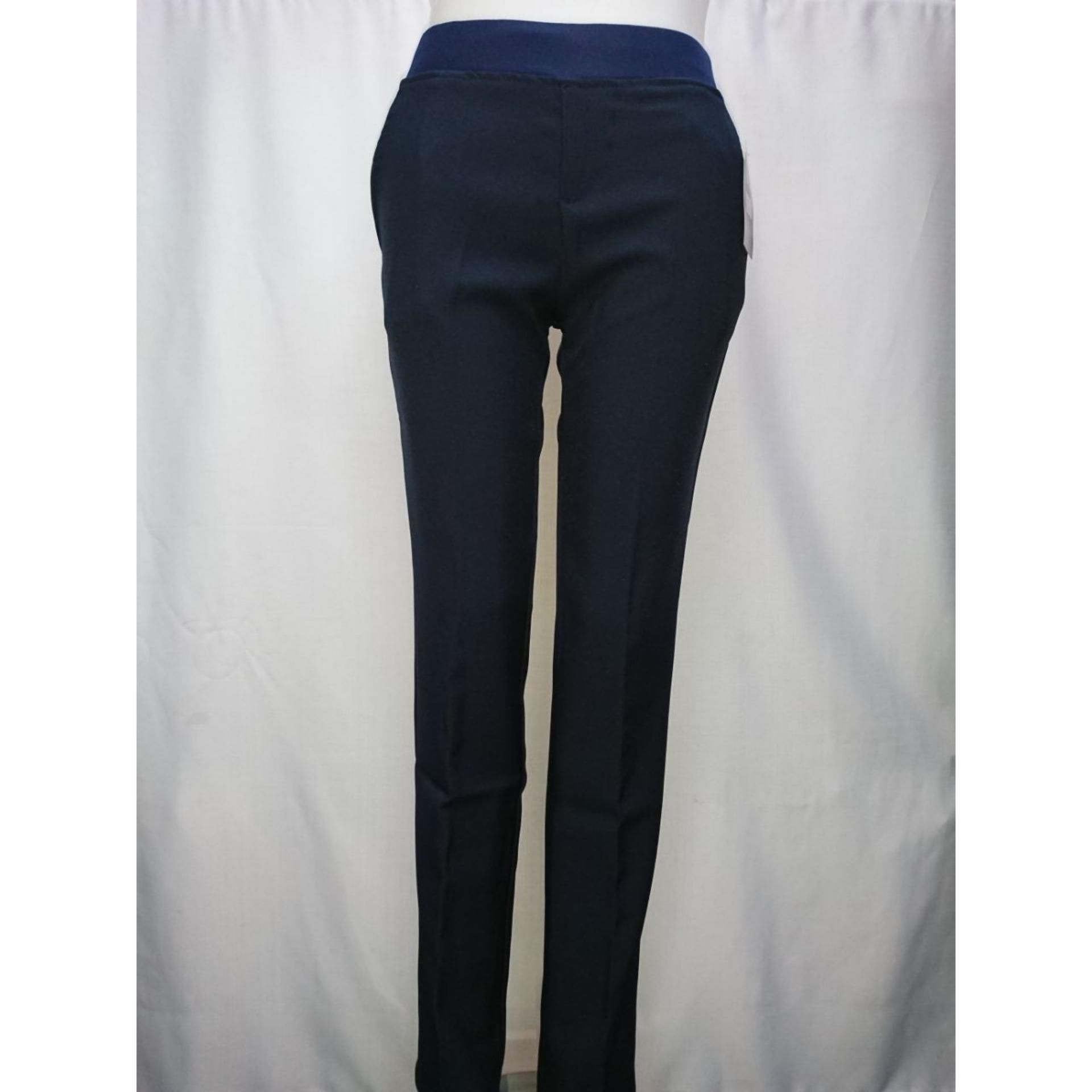 Celana formal kerja wanita biru dongker