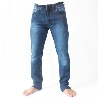Celana Jeans Denim Biru tua Washing