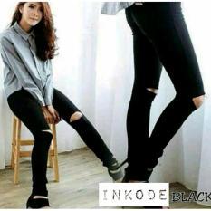 Celana Jeans Wanita – Premium Quality – Skinny Sobek