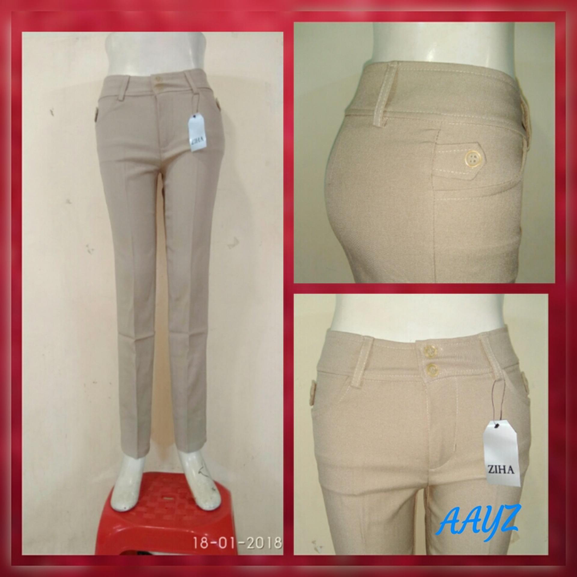 Bandingkan Toko Celana Kerja Wanita Cream / Celana Kantoran /Celana Formal Cewek / Celana bahan