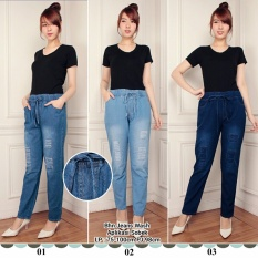 Celana panjang jeans wanita jumbo long pant Delima - 02