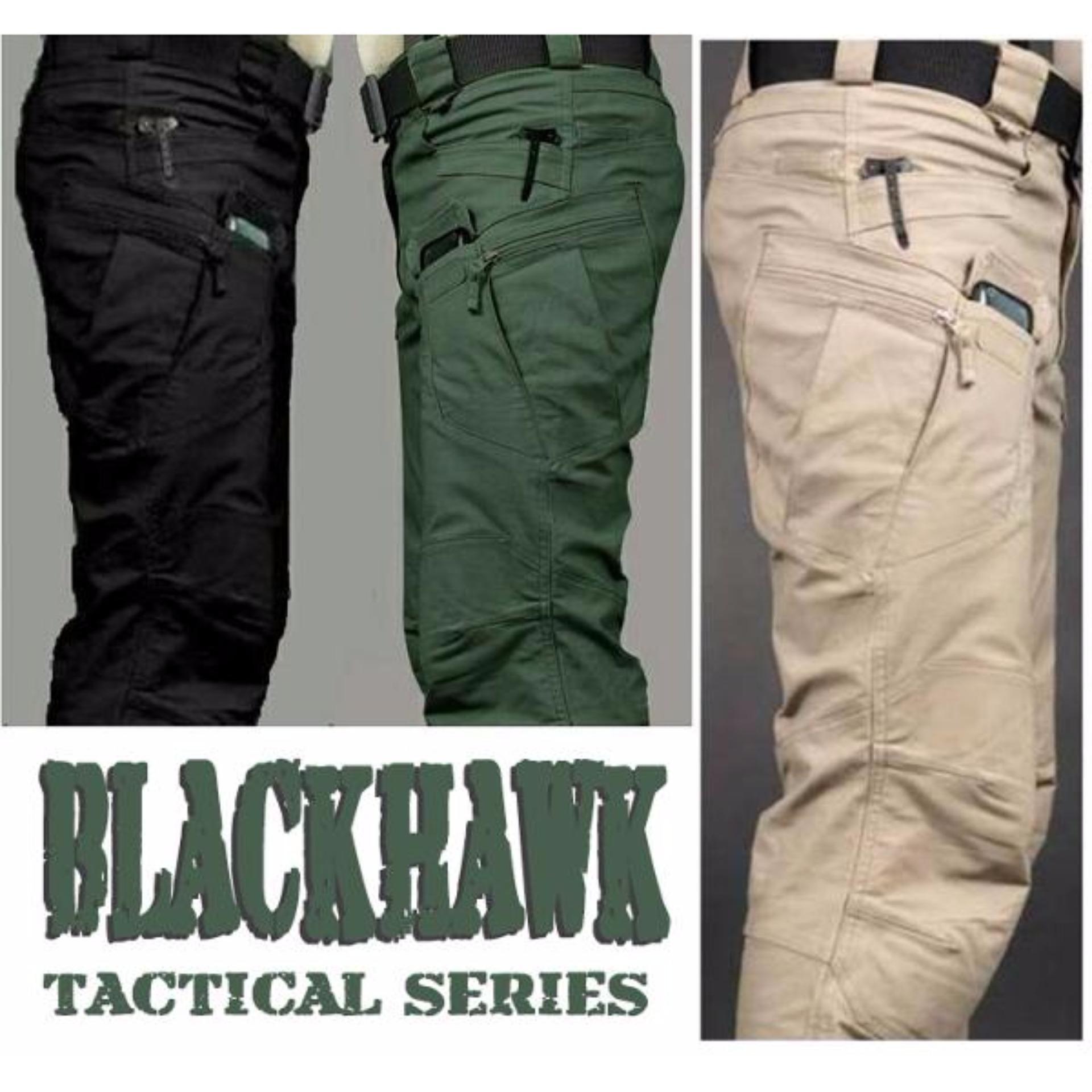 Flash Sale Celana Panjang Pria / Celana Tactical / Blackhawk - Hijau Army