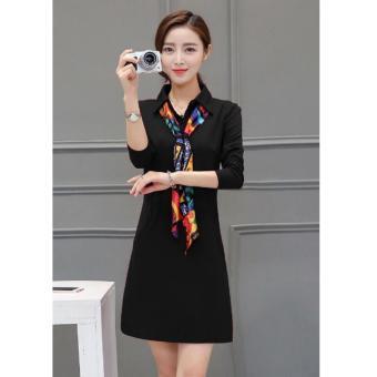 cicilia dress fashion wanita cantik-hitam
