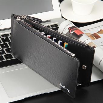 Cisco - Dompet Kartu Panjang Cowok Pria Black - Men's Wallet AL143