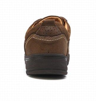 City Camel Sepatu Kulit Santai Pria Inggris Ternak Rekreasi BawahSepatu Hiking Sepatu Tebal Coklat