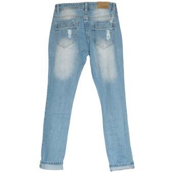 ... Ckey Celana Panjang Wanita Boyfriend Ripped Jeans 710 - Sobek TidakTembus Kulit - 3 ...