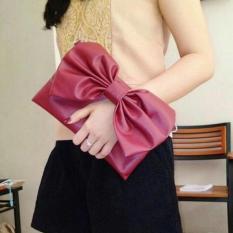 Clutch Bag - Sling Bag Pita / Tas Genggam dan Tas Slempang Wanita - Maroon