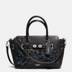 Coach Blake 25 Applique Butterfly Pebble Leather F59361