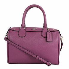 COACH F57521 Mauve Purple Crossgrain Leather Mini Bennett  - 889532864935