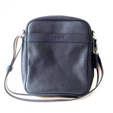 Coach Men's Flight Bag in Smooth Leather Crossbody F71723 - Midnight