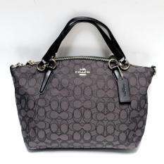 Coach Small Kelsey in Signature PVC (Black/Charcoal)
