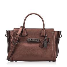 Coach Swagger 27 Bronze Pebble Leather 34816 Authentic Original USA