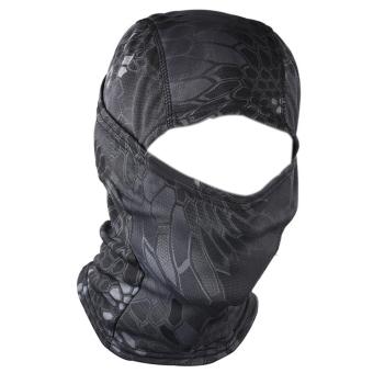 Cocotina Sepeda Motor Di Bawah Helm Ski Bersepeda Wajah Penuh Masker Balaclava Hat (Hitam)