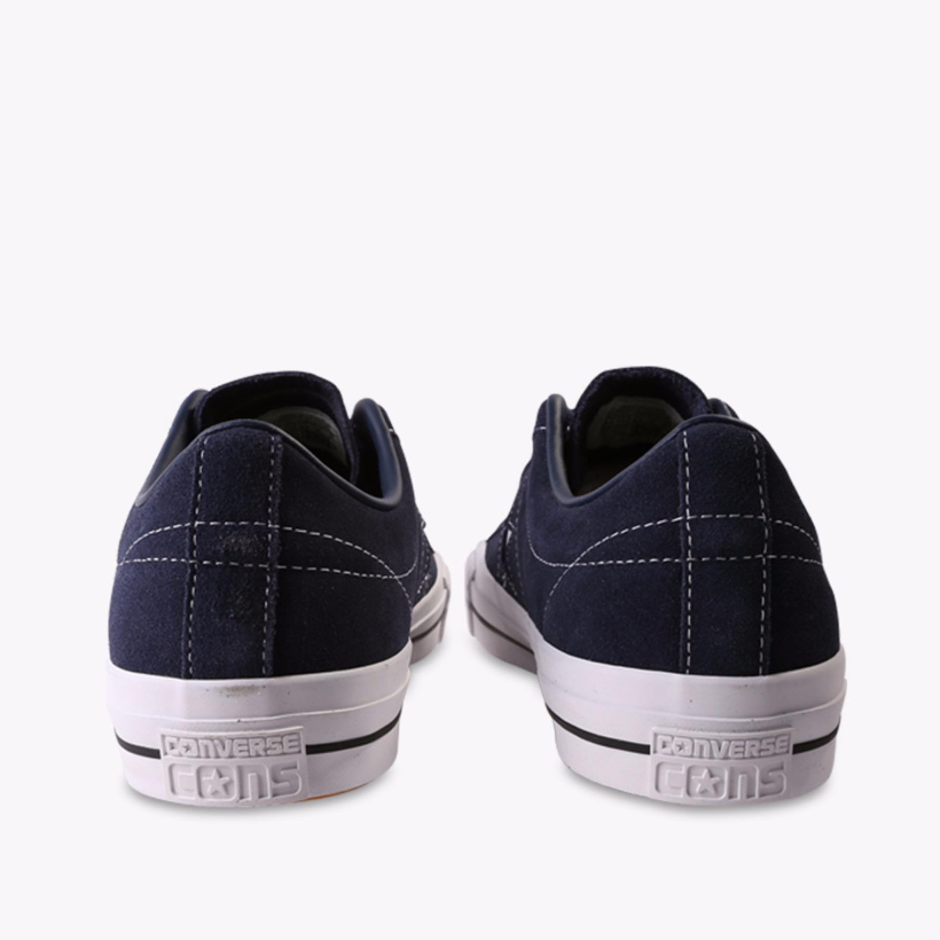 ... Converse One Star Pro Ox Men's Sneakers Shoes - Navy ...