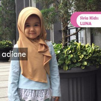 Copio Jilbab kerudung hijab Anak instan Luna Kids By Adiane -coklat
