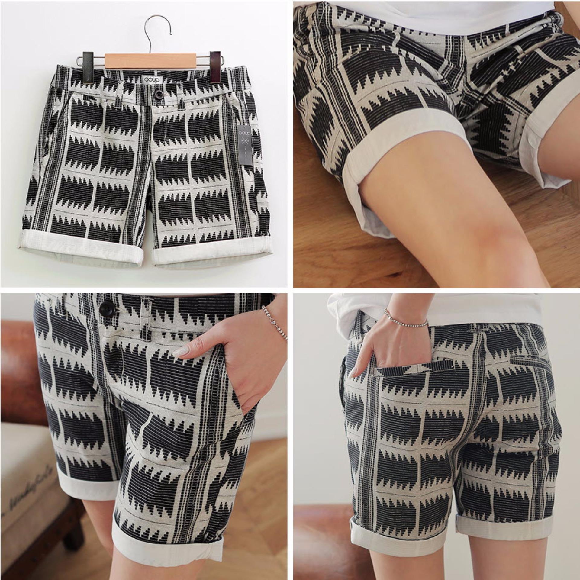 Coup Women Classic Short Celana Pendek Wanita Black Daftar Harga S4 Men Bermuda Pria Korean Brand Pants Indian Bw