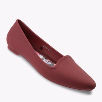Crocs Eve Women's Flat Shoes - Merah
