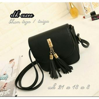 Cross Body & Shoulders Bags / Sling Bag / Satchel Bag Korean Style Tassel - Black