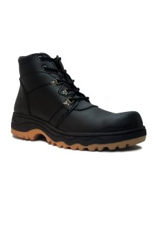 Cut Engineer Safety Boots Jordan Leather Black
