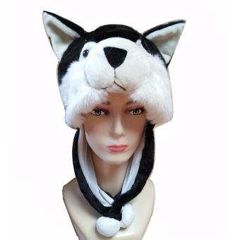 D & D Fashion Animal Beanie Hat / Topi Boneka Dewasa Kucing -Hitam