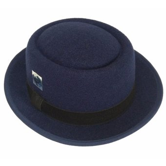 D & D Hat Collection Topi Pork Pie Dewasa - Navy