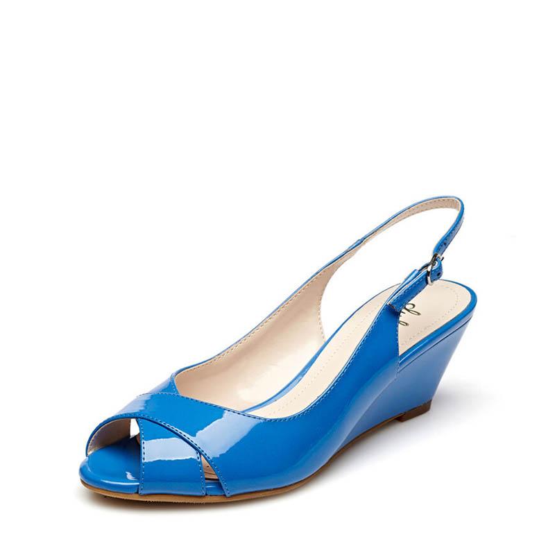 Flash Sale Daphne perempuan bertumit tinggi kata gesper kepala ikan non-slip sepatu wanita sandal
