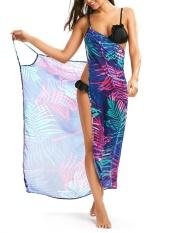Daun tropis Menutupi Slip Dress