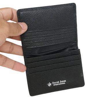 David Jones International - Dompet Kartu / Card Holder Kulit Pria -Kulit Asli - 1143 - Hitam - 3
