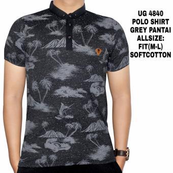 Dgm_Fashion1 Polo Shirt Kerah Sanghai Motif Pantai/ polo shirt polos/ kaos polos polo/ kaos polo/ kaos polo berkerah/ kaos polo polos/ kaos kerah polo shirt/ kaos polo pria SP 4840 Abu Tua - 4