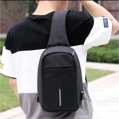 DIGITAL - Tas Selempang Anti Air / Anti Maling / Smart Crossbody Bag - Hitam