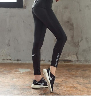... Diotem Women's New Stretch-fast Dry Yoga Trousers Night Run Reflective Strip Fitness Trousers ...