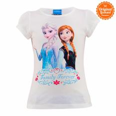 Disney Frozen Princess Elsa And Anna T-Shirt Kids White